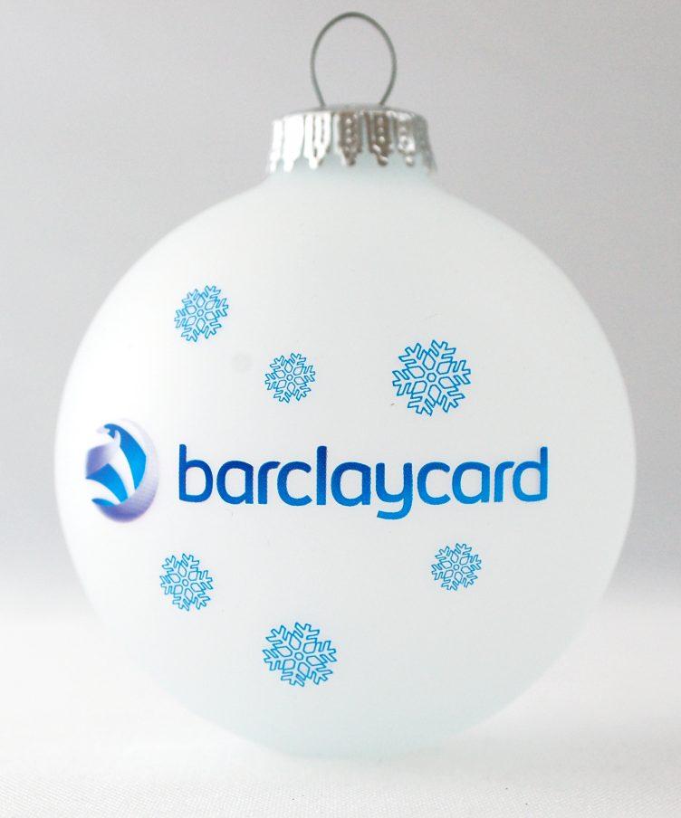 Коледни топки с лого